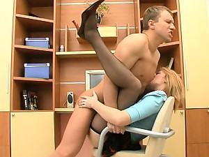 Ninette&Adrian screened while pantyhosefucking